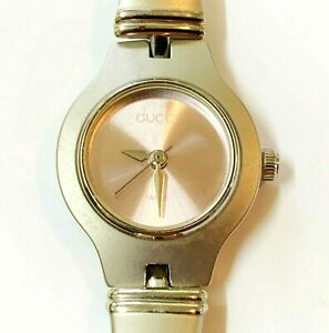 Gucci 6700L Vintage 1990s Women's Quartz Stainless Steel Watch, Pink Face (NW)