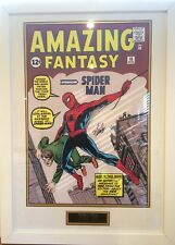 AMAZING SPIDER-MAN STAN LEE AUTOGRAPH HAND SIGNED FRAMED PRESENTATION #2 SUPERB