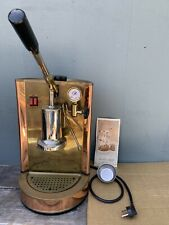 VTG BRASS COPPER ESPRESSO MACHINE ENRICO OF ITALY REPAIR RESTORE w/ Instructions