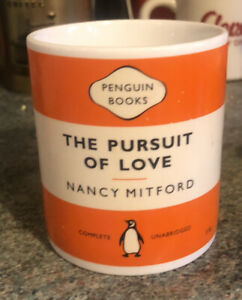 "PENGUIN BOOKS CLASSICS MUG ICONIC ORANGE ""The Pursuit Of Love"" 2005 Ltd Ed"