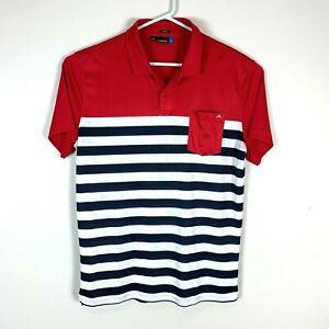 J Lindeberg Slim Fit Premium Golf Polo Shirt Size Men's XL