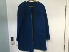 ZARA WOOL/COTTON BLEND BLUE COAT KIMONO SLEEVES SZ M, ALSO SZ L AVAILABLE