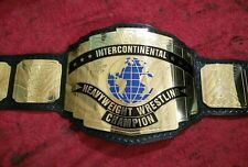 WWF Intercontinental Champion Wrestling Belt Classic Leather 2 mm Plates Replica