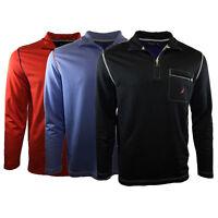 Mens Polo Nautica Long Sleeve 1/2 Zip Up Classic Original 100% Cotton GIFT NEW .
