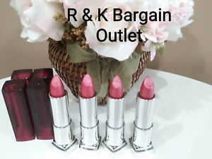 4 ~ MAYBELLINE COLOR SENSATIONAL LIPSTICK Lipcolor 035 PINK PEONY Smudged