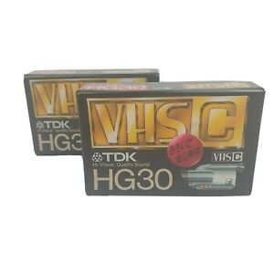 2 pack x TDK HG30 High Grade VHS C Video Tapes New sealed Japan 30mins/90mins