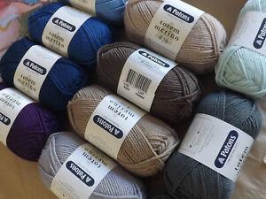 Patons Totem Merino 8 Ply Australian Wool Crepe Wool 50g Ball Choice of  Colours