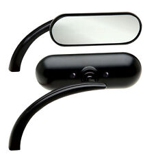 Arlen Ness Mini Oval Black Mirrors Pair for Harley Davidson