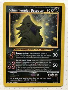 Schimmerndes Despotar Pokémon TCG Neo Destiny 113/105 Secret Rare