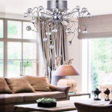 Crystal Chandelier Lighting Pendant Ceiling Fixture 9-Light Lamp Flush Mount usa