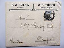Bulgarie 1911 détail affranchissement 25 mi 84 lettre à partir de varna en Bulgarie après pulsnitz