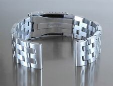 24mm Strait End Stainless Steel Brushed Double Lock Bracelet Chronomat 41 AB0140