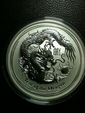 Perth Mint  5 oz 2012 Lunar Dragon - (999 Bullion Silver)