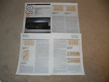 Nakamichi Zx-7 Cassette Review, 4 pgs, 1982, Reference Nak Deck, Full Test