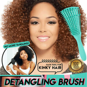 Detangling Brush for Natural Hair, Afro Kinky Wavy, Curly Wet/Dry 4c hair