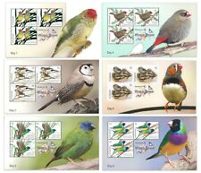 Australia 2018 Birds Finch Species Set of 6 Stamp Mini Sheets For Thai Expo CTO