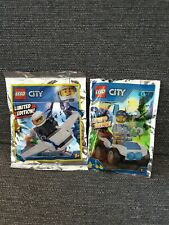 Lego City Limited Edition Foil Polybag Police buggy & Jet 951805 951901 NEW