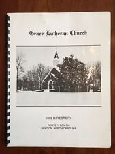 1979 Grace Lutheran Church Directory Newton North Carolina History Family Photos