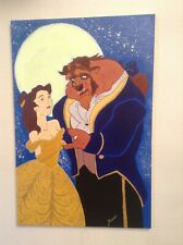 "Painting Disney ""The Beauty and the Beast"" Acrylic on canvas"