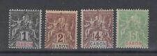 GABON (Colonie Française) - n° 16 à 19 neufs * - C: 10,00 €