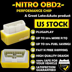 1x Auto Car Nitro OBD2 Performance Tuning Chip Box Gas Vehicles Plug Drive