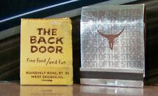 Vintage Matchbook Lot N5 Chicago Illinois Back Door Fine Food Sign Of The Steer