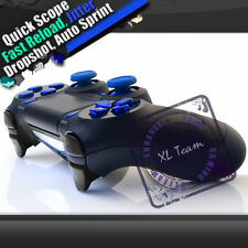 PS4 BLACK RAPID FIRE MODDED CONTROLLER CHROME BLUE BUTTONS COD AW BLACK OPS 3