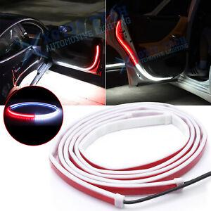 2pcs Door Opening Warning LED Strip Light Flashing Flowing Anti-collision Safety