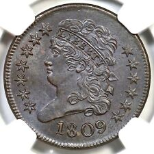 1809 C-3 NGC MS 64 BN CAC Classic Head Half Cent Coin 1/2c