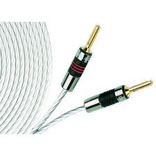 2x QED Plata Micro cable de altavoz de 2 M   rescindido QED airloc Forte Banana Plugs