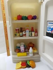 Vintage Step 2 Child Size Pretend Play REFRIGERATOR & Play FOOD LOT