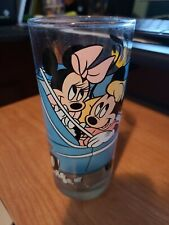 New ListingDisney Mickey Mouse Drinking Glass Cup Vintage Minnie Pluto Car Drink