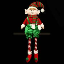 Davies Products Christmas Room Decoration - 70cm Sitting Elf with dangly legs