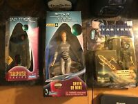 STAR TREK Seven of Nine Action Figure Lot -(NIB) LOT OF 3