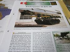 Archiv Militärfahrzeuge Spezialfahrzeuge 54.1 Brückenpanzer 68 BrPz 68 Schweiz