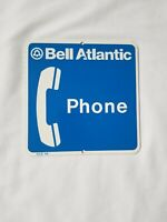 "Vintage Bell Atlantic prepaid Phone Metal Sign 7""x 7"" blue white"