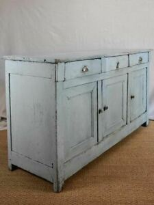 """Late 19th century enfilade / buffet with duck egg blue paint finish 64¼"""" x 21¾"""""""