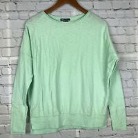 VINCE Womens 100% Cotton Oversized Sweater Dolman Long Sleeve Mint Green Sz S