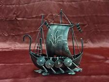 Black metal pirate ship home decor art boat decoration accessories sailing ocean