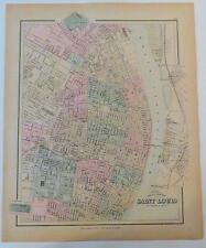 Gray's New Map of St. Louis - 1877