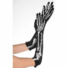 Amscan International Adults Black and Bone Skeletons Long Gloves