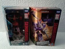 Transformers War for Cybertron Kingdom Voyager Cyclonus and Earthrise Thrust Set