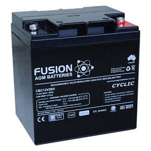 Fusion 12V 27Ah Tall Deep Cycle AGM Battery