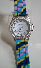 Fashion Rainbow Cool Color Jelly Silicone Rhinestone Girls/ Women's Casual Watch