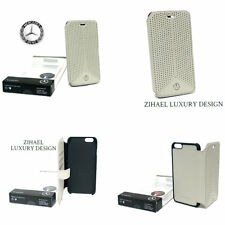 iPhone 6/6s Case Mercedes Perforated Flip Cover Genuine Leather Booktype