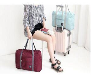 Foldable Travel Storage Luggage Carry On Organizer Hand Shoulder Duffle Bag UK