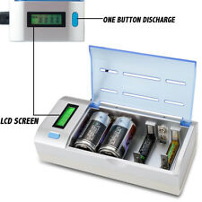 LCD Smart Multi Chargeur Universel Pour AA AAA et 9 V C D Taille Batterie Rechargeable