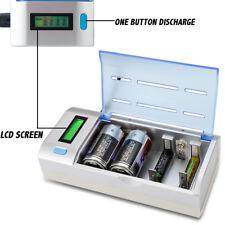 LCD Caricabatterie SMART Multi universale per AA AAA & 9 V C D Dimensione BATTERIA RICARICABILE