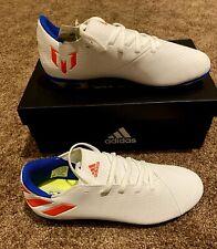 Adidas Nemeziz Messi 19.4 FxG J Soccer Shoes F99931 white Sz 5 New