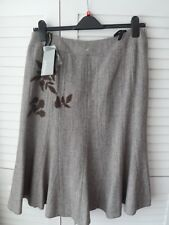 NEW WOMAN'S LADIES PLUS SIZE 18 WOOL BLEND BRANDED FULLY LINED FLARED SKIRT